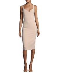 Elizabeth And James Nevyn Sleeveless Scuba Fitted Bustier Dress Blush