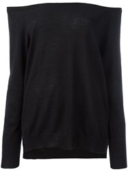 P.A.R.O.S.H. Off The Shoulder Sweater Black