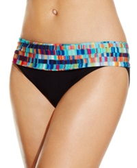 Profile By Gottex Foldover Printed Bikini Bottom Women's Swimsuit