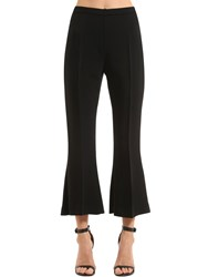 Antonio Berardi Flared And Cropped Stretch Cady Pants Black