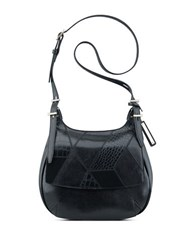 Nine West Beleka Textured Leather Crossbody Bag Black