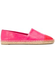 Tory Burch Colour Block Espadrilles Pink And Purple