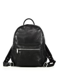 Urban Originals Lola Perforated Faux Leather Backpack Black