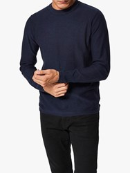 Selected Homme Page Crew Neck Jumper Navy