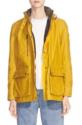 Women's Belstaff 'Tourmaster' Waxed Cotton Coat Bright Mustard
