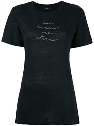 Diesel 'T Sully' Long Embroidered T Shirt Black