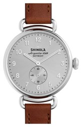 Shinola The Canfield Leather Strap Watch 38Mm