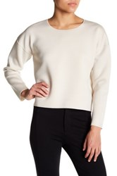 French Connection Long Sleeve Sweater White