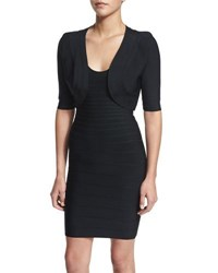 Herve Leger Bandage Trim Shrug Black