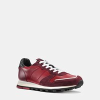 Coach C118 Colorblock Sneaker Cardinal Black