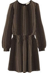 Michael Michael Kors Aralia Polka Dot Crepe Mini Dress Black