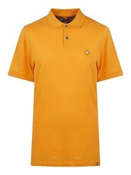Pretty Green Men's Short Sleeve Smiley Polo Orange