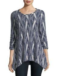 Context Ruched Sleeve Textured Blouse Darknavy Bubblegum