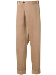Gabriele Pasini Drop Crotch Trousers Brown