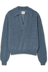 Khaite Jo Cashmere Blend Sweater Blue
