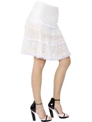 Nina Ricci Dentelle Stretch Techno Lace Skirt