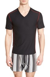 Men's Exofficio 'Give N Go Sport' Mesh V Neck T Shirt Black