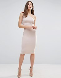 Oh My Love One Shoulder Dress Beige