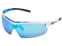 Tifosi Optics Talos Interchangeable Race Blue Athletic Performance Sport Sunglasses Red