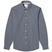 Norse Projects Osvald Micro Plaid Shirt Blue