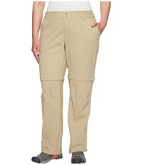 Columbia Plus Size Saturday Trail Ii Convertible Pant British Tan Women's Casual Pants