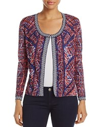 Nic Zoe And Picasso Graphic Print Cardigan Multi