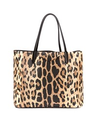 Antigona Small Leather Shopping Tote Animal Print Leopard Givenchy