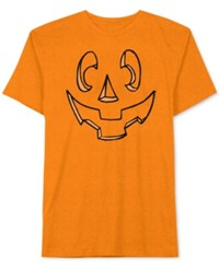 Jem Men's Carved Jack O' Lantern Pumpkin Halloween T Shirt Orange
