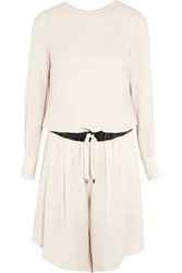 Brunello Cucinelli Silk Crepe Playsuit Ecru