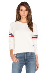 Mother The Square Sweatshirt Cream