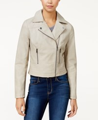 American Rag Faux Leather Moto Jacket Only At Macy's Antique White
