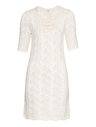 Vanessa Bruno Pointelle Crochet Half Length Sleeve Dress