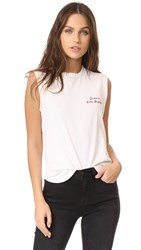 Frame Muscle Shirttail Tee Off White