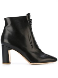 Rupert Sanderson Lace Up Ankle Boots Black