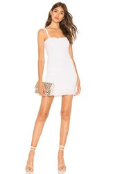 By The Way Calie Smocked Tie Dress White