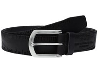 John Varvatos Scored Edge Belt With Harness Buckle Black Men's Belts