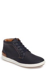 Steve Madden Men's Fractal Sneaker Navy Leather
