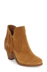 Jessica Simpson Women's 'Cecila' Fringe Bootie Honey Brown Suede
