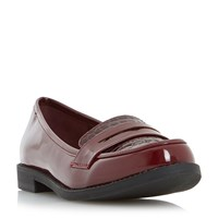 Linea Gingerly Casual Loafers Burgundy