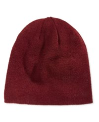 Alfani Men's Reversible Beanie Only At Macy's Burgundy