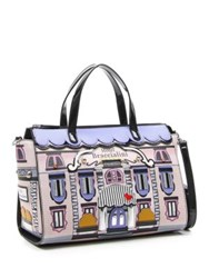Tua Hotel 3D Applique Large Satchel Multi Colored