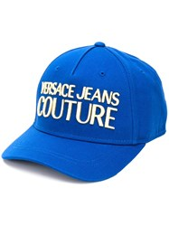 Versace Jeans Couture Logo Embroidered Snap Back Canvas Cap 60