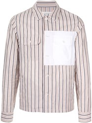 Maison Martin Margiela Striped Patch Shirt Brown