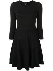 Emporio Armani Flared Fitted Dress Black