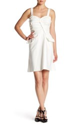 Oscar De La Renta Sleeveless Sweetheart Dress White