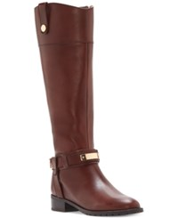Inc International Concepts Women's Fabbaa Tall Wide Calf Boots Only At Macy's Women's Shoes Capuccino