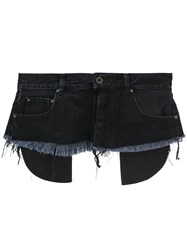 Unravel Project Denim Waist Belt Black