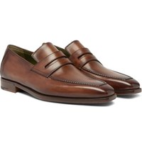 Berluti Andy Leather Loafers Brown