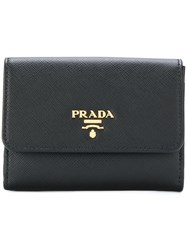 Prada French Flap Wallet Leather Black