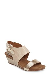 Sofft Women's 'Vanita' Leather Sandal Light Grey Platino Leather